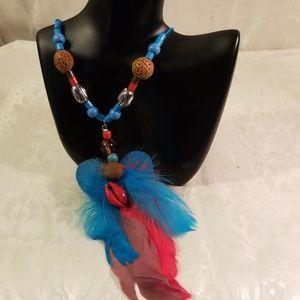 Jewelry - Bohemian style feathers necklace/choker
